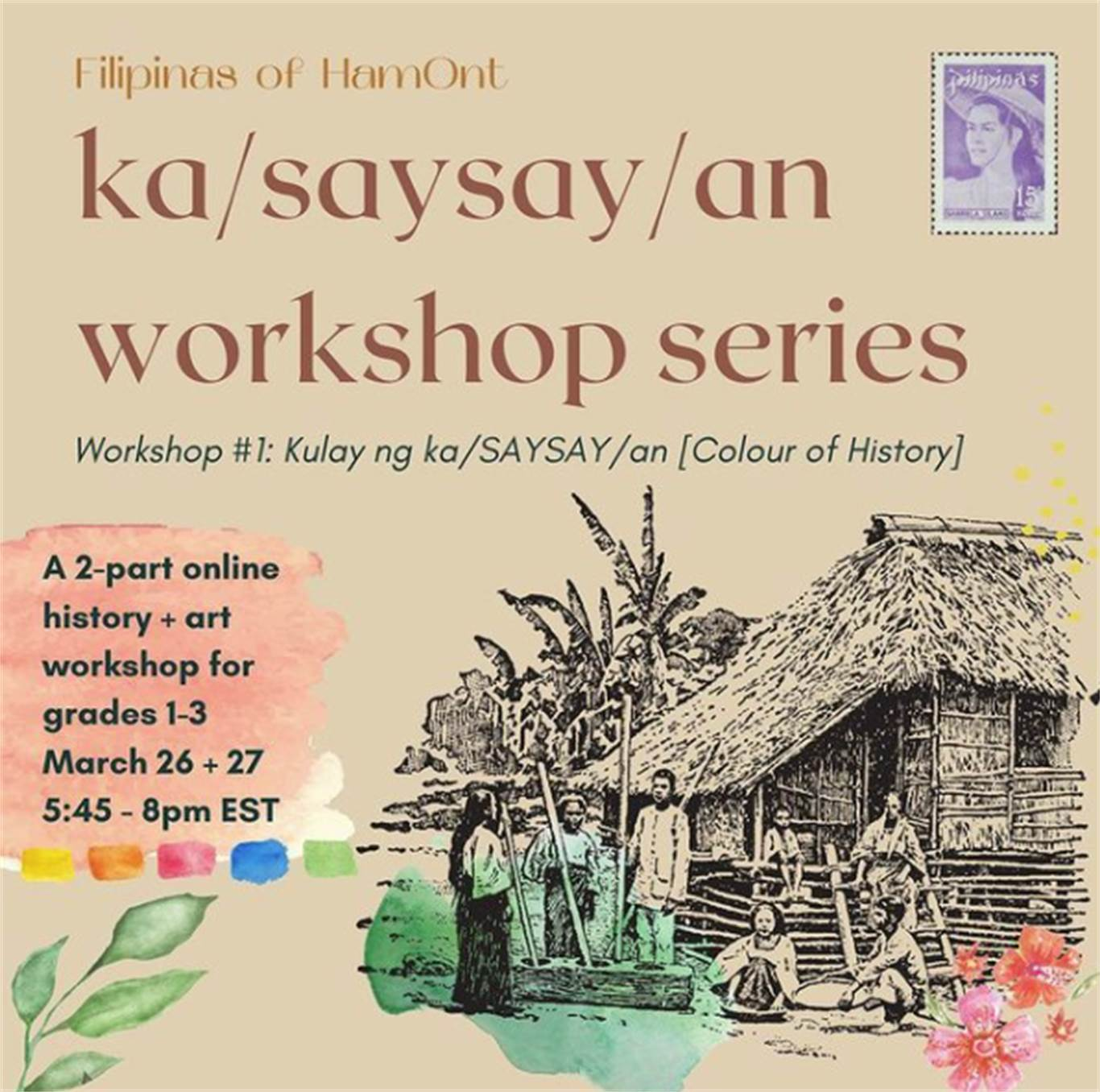 History + Visual Arts Workshop for Filipino children